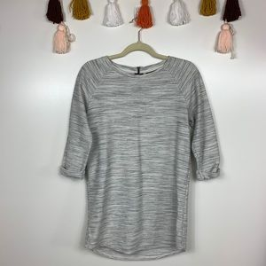 Topshop Marled Heather Gray Textured Tunic 6